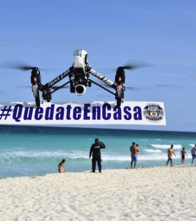 Estrenan en Cancún escuadrón de 'drones' para videovigilancia