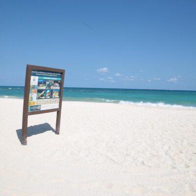 Concluyen festejos de Semana Santa sin gente en las playas de Solidaridad