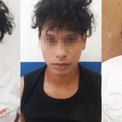 Capturan a tres sujetos que asaltaron una notaría en Playa del Carmen