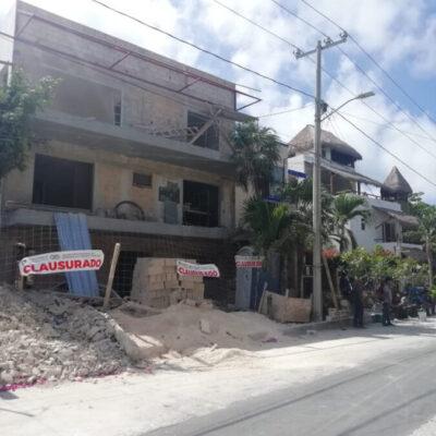 Van cinco obras de construcción clausuradas en Puerto Morelos por no acatar suspensión de actividades durante contingencia