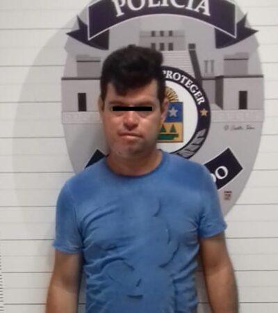 Detienen a sujeto por violencia intrafamiliar en Cancún