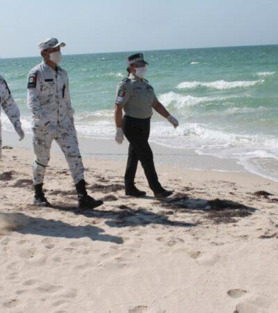 Recorre Guardia Nacional playas de Yucatán para invitar a ciudadanos a cumplir con el aislamiento social