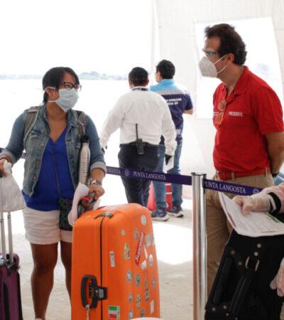 Arribo de crucero Disney se realizó bajo estrictas medidas de seguridad sanitaria en Cozumel