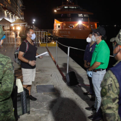 NUEVO CRUCERO HUMANITARIO ATRACA EN COZUMEL: Recibe Alcalde en el muelle Punta Langosta a 45 trabajadores mexicanos repatriados por la naviera Norwegian Cruise Line Holding, todos libres de COVID-19