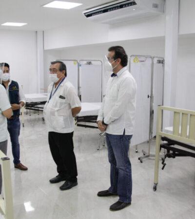 Supervisan Pedro Joaquín y el gobernador del Estado la ampliación del Hospital General de Cozumel