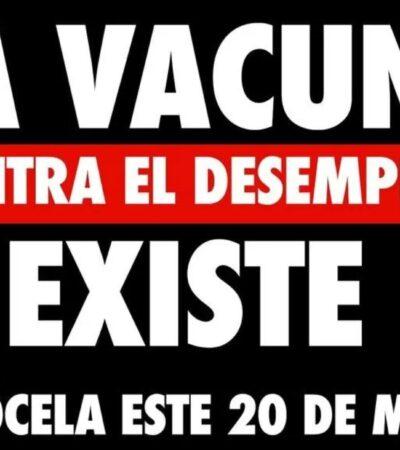 Policías impiden manifestación de Coparmex en Monumento a la Revolución
