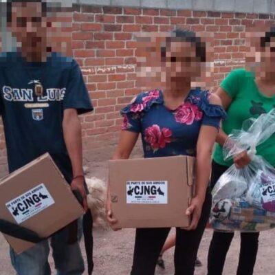 DESAFÍO DEL CJNG AL ESTADO MEXICANO: Difunde videos de entrega de despensas