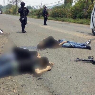 Deja seis muertos enfrentamiento entre policías y grupo armado en Oaxaca