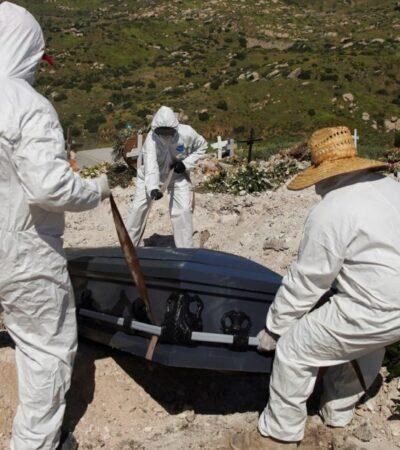 México registra 290 muertes más por COVID-19 y ya suma 4 mil 767 decesos