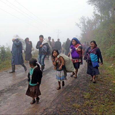 Riesgo de hambruna entre desplazados de Chiapas