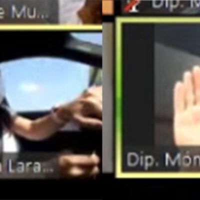 Diputada poblana participa en sesión virtual mientras maneja su auto