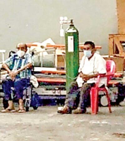 Reportan saturación de hospitales en Acapulco; atienden a pacientes en el estacionamiento; alistan tumbas masivas