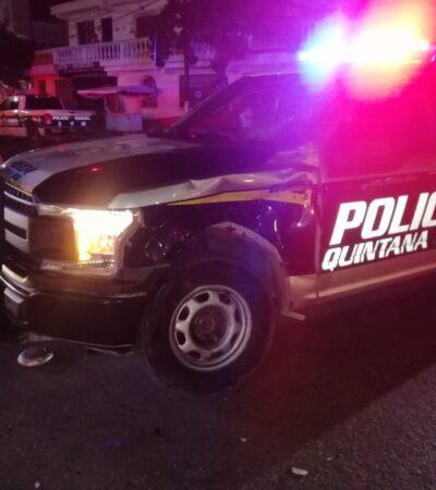 Policía de Capella se vuela el alto y motociclista se lleva la peor parte en Cancún