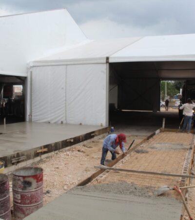Avanza la construcción de dos hospitales para atender a pacientes con COVID-19 en Cancún