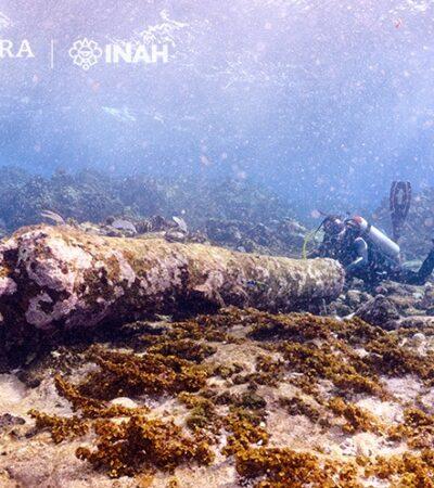 FOTOS | Encuentran restos de velero inglés hundido en Banco Chinchorro