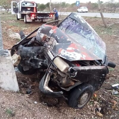 Terrible accidente en el periférico de Mérida; conductor muy grave