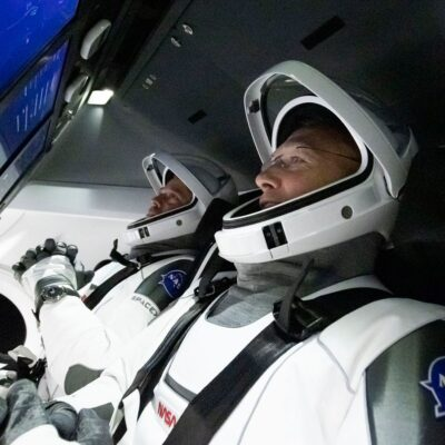 VIDEO | Nave de SpaceX viaja rumbo a la Estación Espacial Internacional con dos tripulantes