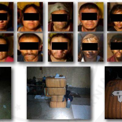 Detienen a 14 presuntos miembros del CJNG en Tecate
