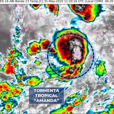 Surge tormenta tropical 'Amanda' en Centroamérica; habrá lluvias en Quintana Roo