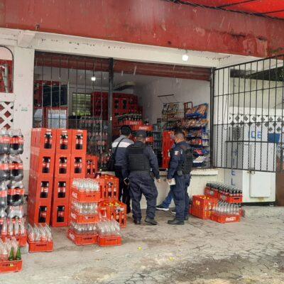 Asaltan con violencia comercio en la avenida López Portillo de Cancún