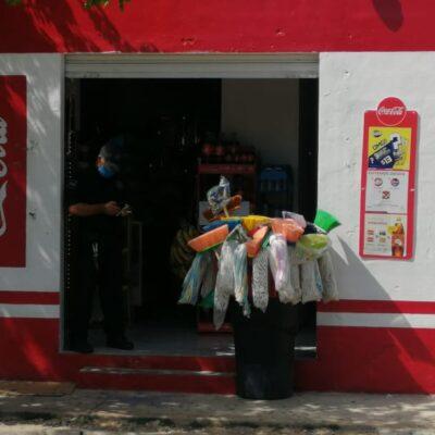 Sujeto asalta tienda y apuñala a un tendero en Playa del Carmen, pero es detenido