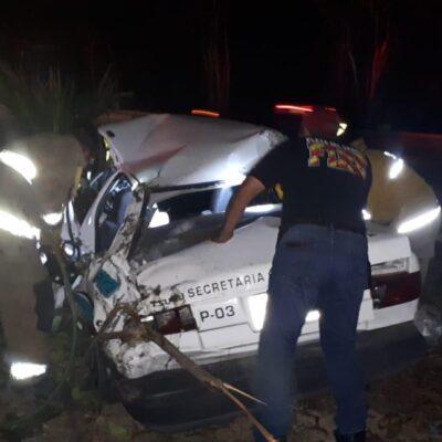 Por querer fugarse, se estrella delegado de taxistas en Playa del Carmen
