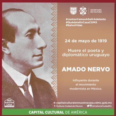 PIFIA DE LA SECRETARÍA DE CULTURA DE CDMX: Confunden nacionalidad del poeta Amado Nervo y cibernautas se burlan