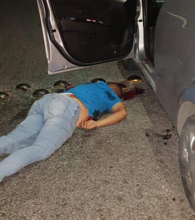 Ejecutan desde un taxi a hombre en Villas Otoch Paraíso