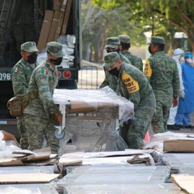 Llega equipo médico a Yucatán al registrarse 540 casos positivos de COVID-19
