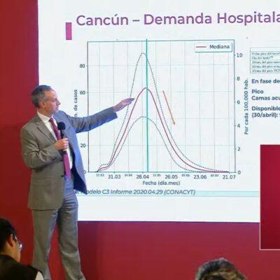 """Cancún está por """"ver luz al final del túnel"""" por COVID-19, dice López Gatell"""
