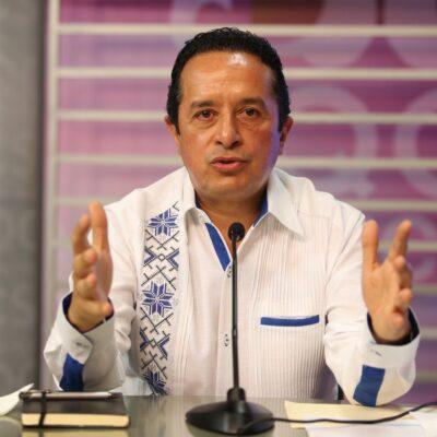 Urge Carlos Joaquín a fortalecer las medidas preventivas para garantizar retorno gradual a las actividades en QR