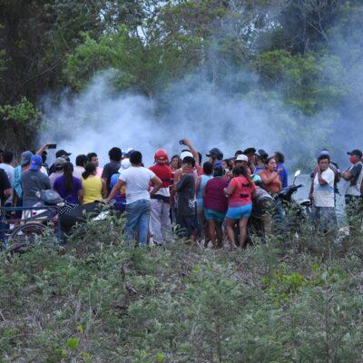 Desalojan a invasores de terreno de la Uqroo en FCP
