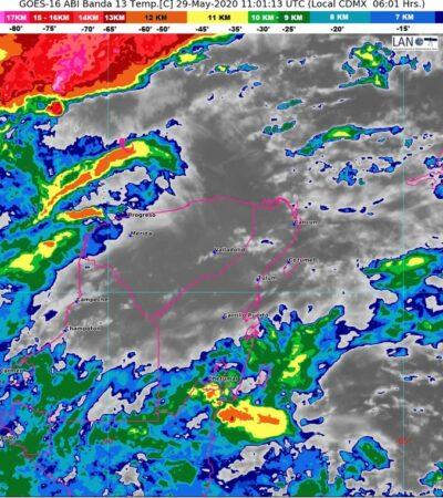 Desmiente Coeproc formación de supuesto huracán frente a las costas de Quintana Roo; se trata de un sistema de baja presión, asegura