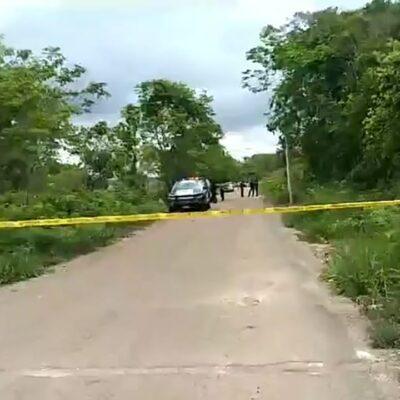 DOBLE EJECUCIÓN EN BACALAR: Pareja recibió más de 20 disparos, tras ser emboscada por sujetos armados a bordo de motocicletas
