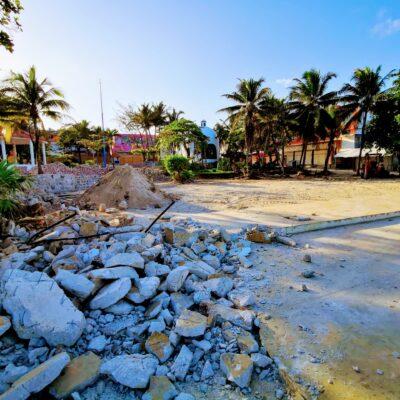 Exhiben al Ayuntamiento de Solidaridad  por talar árboles en la cuestionada obra de remodelación de la Quinta Avenida