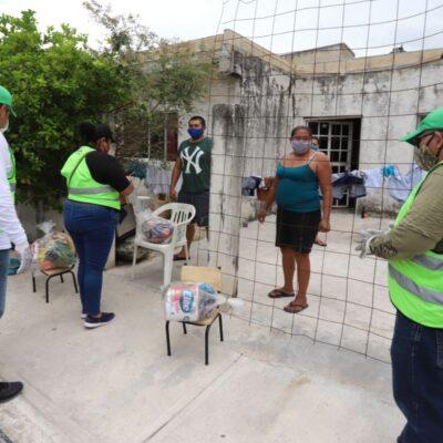 Comienza nueva entrega de despensas en la cabecera municipal de Puerto Morelos