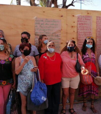 """""""LAURA BERISTAIN, PARA LAS OBRAS DE RELUMBRÓN"""": Se manifiestan contra remodelación de la Quinta y clausuran simbólicamente los trabajos"""