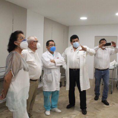 Supervisan reconversión de hospitales del IMSS en QR