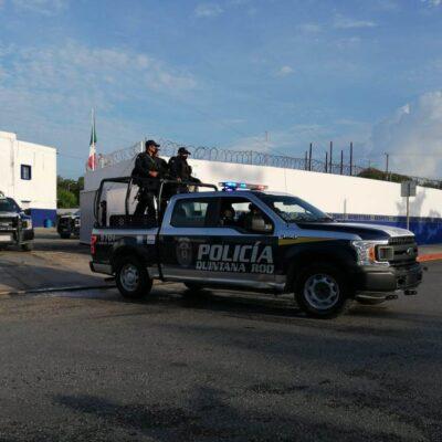 Refuerzan la vigilancia policiaca en Cancún ante la llegada de Obrador