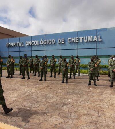 Habilitan hospital COVID en Chetumal