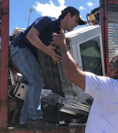 Piden a cancunenses reciclar aparatos electrónicos porque un riesgo ambiental y sanitario