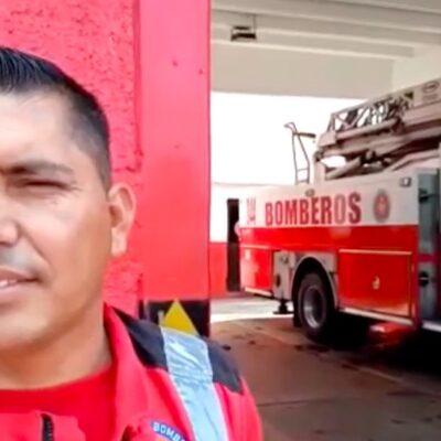 Bomberos de Cancún se mantienen alertas durante contingencia, pero piden a ciudadanos evitar llamadas en falso