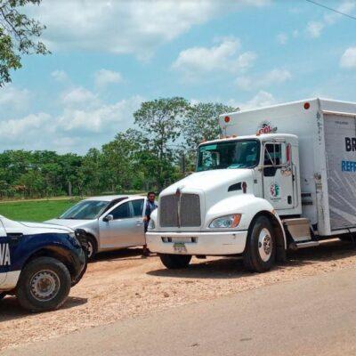 ATORAN ENVÍO DE SUMINISTROS 'ESENCIALES': Falta de comunicación genera alboroto al llegar camión cervecero a Kantunilkín