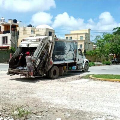 Recolección de basura aumentó un 30% por la contingencia sanitaria en Cancún