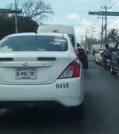 Taxistas sufren por poco pasaje y mayor delincuencia