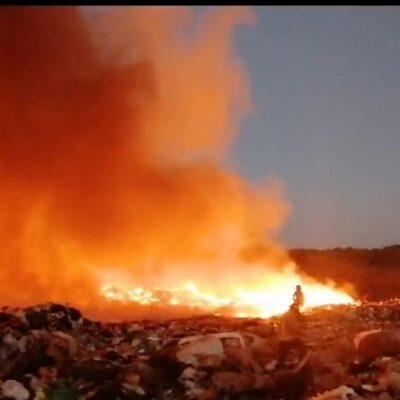Arde, oootra vez, el basurero de Chetumal