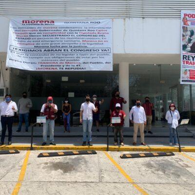 Pedirán al CEN de Morena llamar a cuentas a diputados de QR por negarse a sesionar