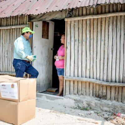 Se han repartido más de 23 mil despensas en comunidades de Tulum