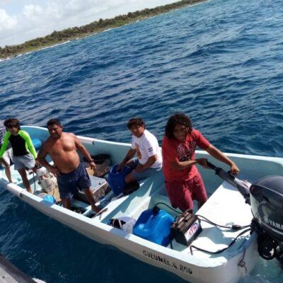 Detiene Marina a pescadores furtivos en Cozumel
