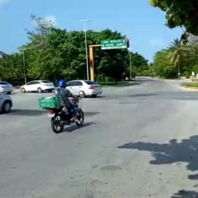 Transporte público redujo circulación del 50% de unidades en diferentes partes de Cancún